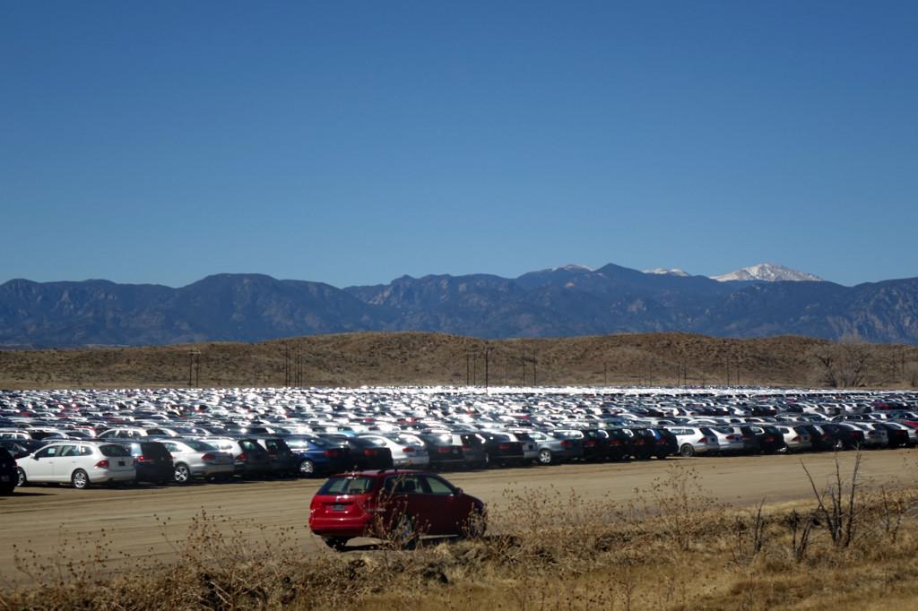 VW TDIs parked for Dieselgate